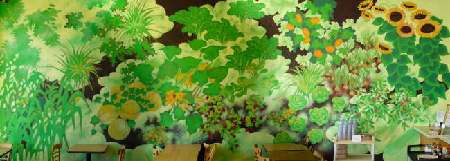 The Mural on Japhy's Dining Area Wall